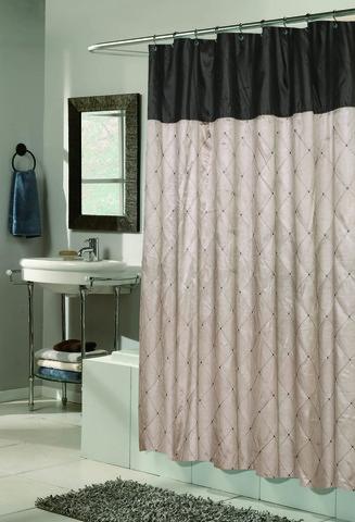 Элитная шторка для ванной Balmoral Taupe от Carnation Home Fashions