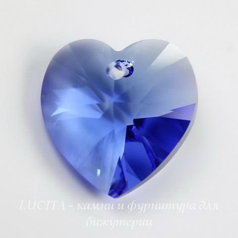 6202/6228 Подвеска Сваровски Сердечко Sapphire (10.3х10 мм) ()