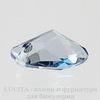 6656 Подвеска Сваровски Galactic Vertical Crystal Blue Shade (19 мм) ()