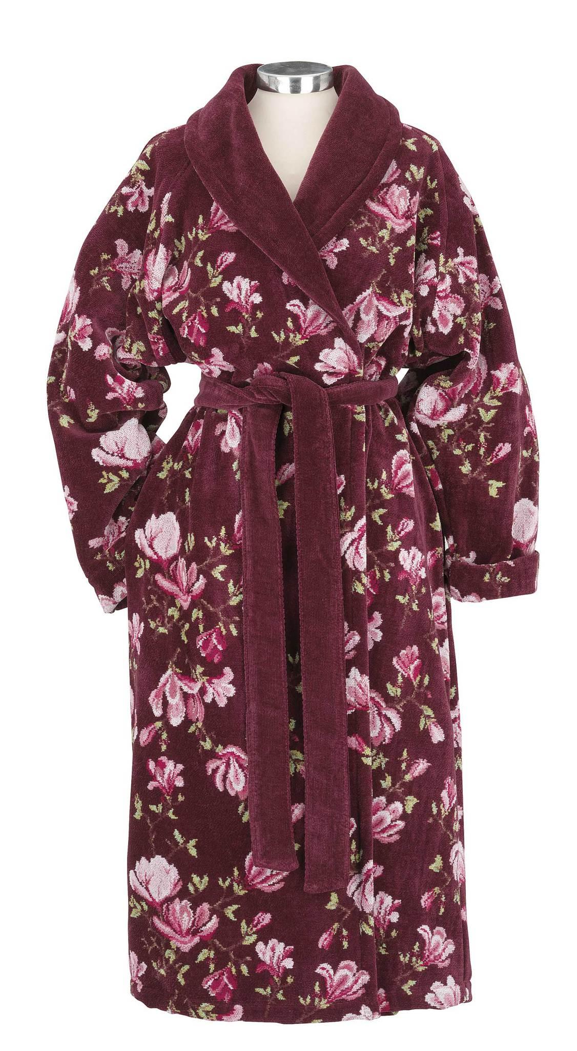 Элитный халат шенилловый Magnolia Gracia 114 weinrot от Feiler