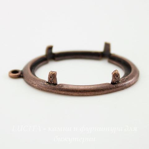 Сеттинг - основа - подвеска для камеи или кабошона 25х18 мм (оксид меди) ()