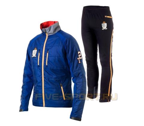 Лыжный костюм мужской Stoneham Warm Up Jacket blue разминочный