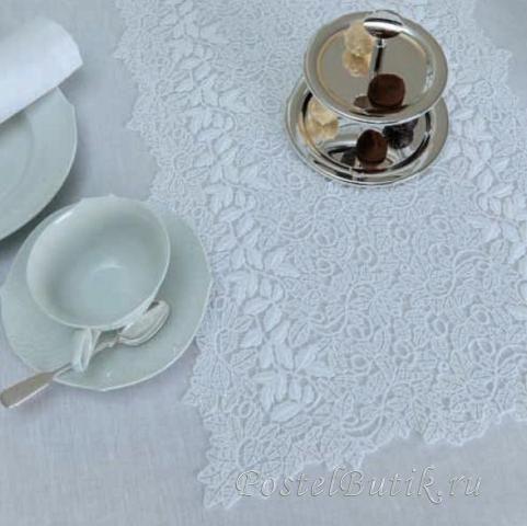 Салфетки Салфетки 45х45 Weissfee Callista белые elitnaya-salfetka-callista-belaya-ot-wiessfee-germaniya.JPG