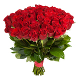 Красные розы/ 70 - 80 см