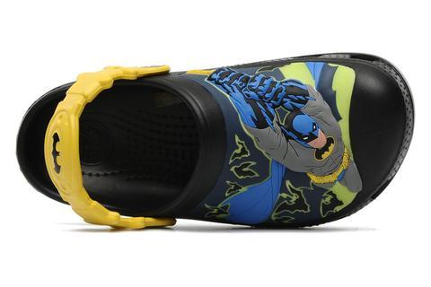 Сабо Крокс (Crocs) пляжные шлепанцы кроксы для мальчиков, цвет черный. Изображение 6 из 7.