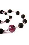 Ожерелье Монте Амиата черно-фиолетовое