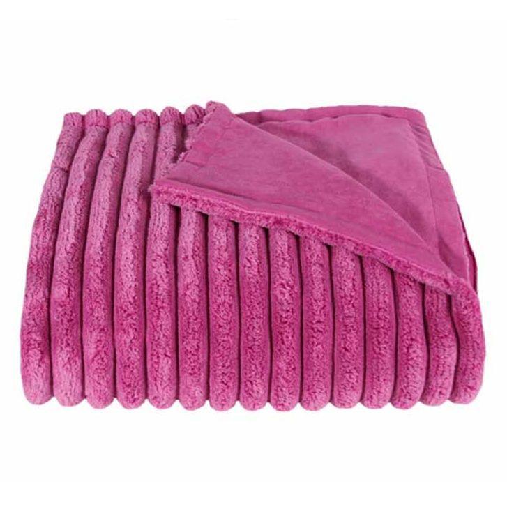 Плед 140х190 Fat Rib от Zoeppritz розовый