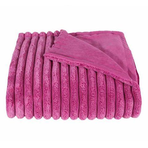 Элитный плед Fat Rib розовый от Zoeppritz