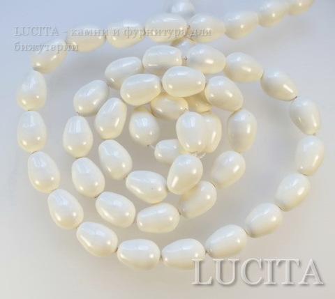 5821 Хрустальный жемчуг Сваровски Crystal Ivory грушевидный 11х8 мм ()