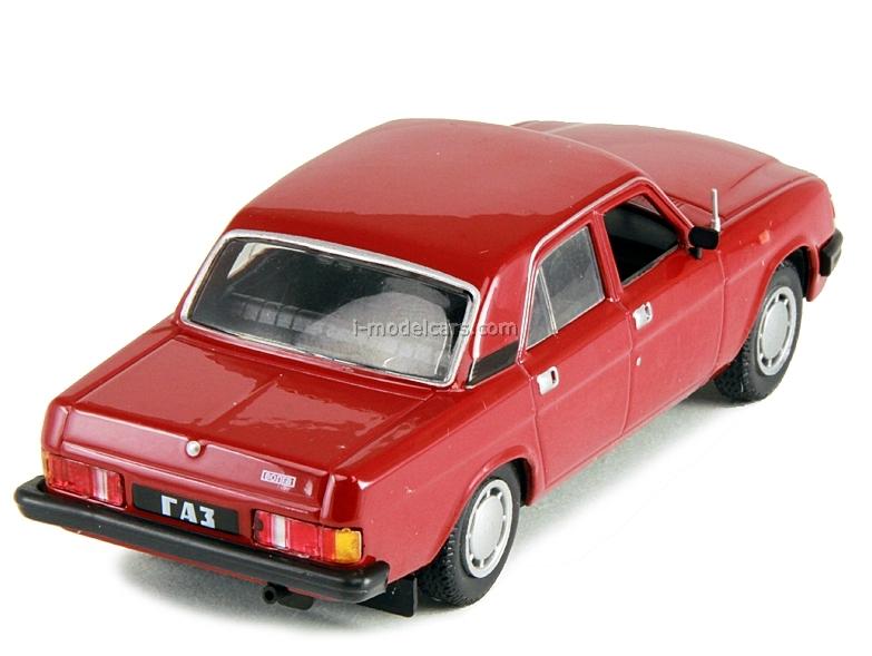 GAZ-31029 Volga dark red 1:43 DeAgostini Auto Legends USSR #104