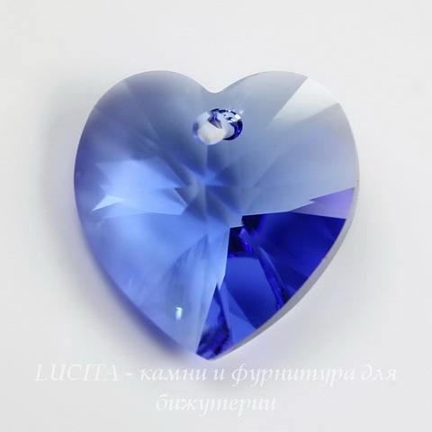 6228 Подвеска Сваровски Сердечко Sapphire (18х17,5 мм) ()