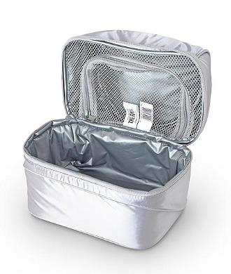 Сумка-холодильник (термосумка) для косметики  Pop Top Dual Silver, 6.5L
