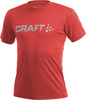 Футболка Craft Active Run Logo Tee мужская red