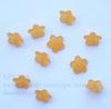 Акриловый цветочек оранжевый 10х4 мм ,10 штук