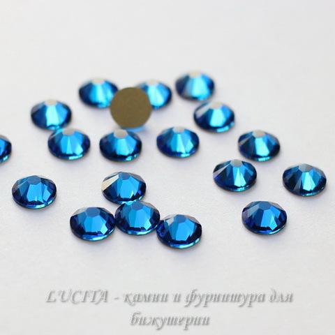 2058 Стразы Сваровски холодной фиксации Capri Blue ss 20 (4,6-4,8 мм), 10 штук