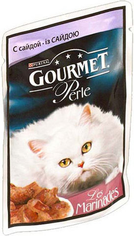 Gourmet Перл для кошек Сайда 85г/24, 85 гр