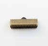 Концевик для лент 20 мм (цвет - античная бронза), 10 штук