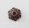 Шапочка - конус для бусины 12х7 мм (цвет - античная медь), 10 штук