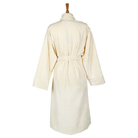 Элитный халат-кимоно велюровый Logo слоновая кость от Roberto Cavalli