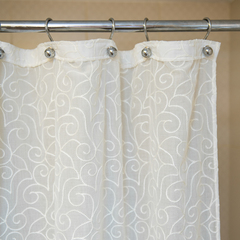 Элитная шторка для ванной 300х200 Embroidery 2555 от Arti-Deco