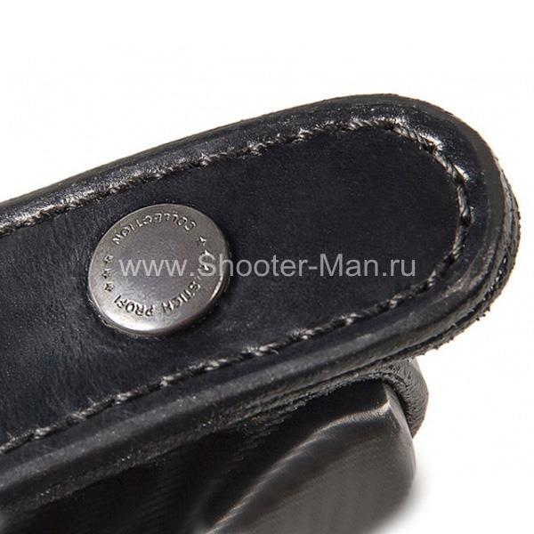 Кожаная кобура на пояс для пистолета Гроза - 05 ( модель № 9 )