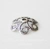 """Шапочка для бусины """"Ажурная"""" (цвет - античное серебро) 11х3 мм, 10 штук"""