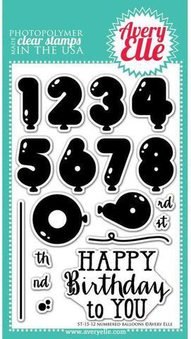"""Комплект силиконовых штампов """"Numbered Balloons"""""""