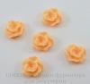 """Кабошон акриловый """"Цветок"""", цвет - оранжевый, 12 мм, 5 штук"""