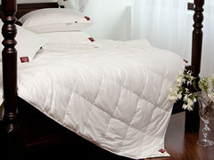 Элитное одеяло кассетное 200х220 Non-Allergenic Premium белое от German Grass