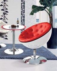 кресло с поворотным механизмом  02-81 белое+ красное  ( by Simple Chair  )