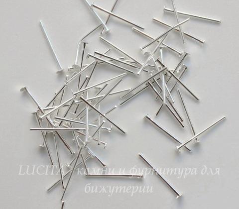 Комплект пинов-гвоздиков (цвет - серебро) 16х0,7 мм, примерно 1000 штук