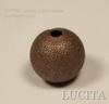 """Бусина """"Сахарный шарик"""" 10 мм (цвет - античная медь), 5 штук"""