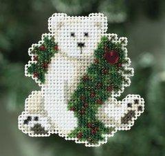 """Набор для вышивания """"Каникулы полярного медведя""""(магнит)"""