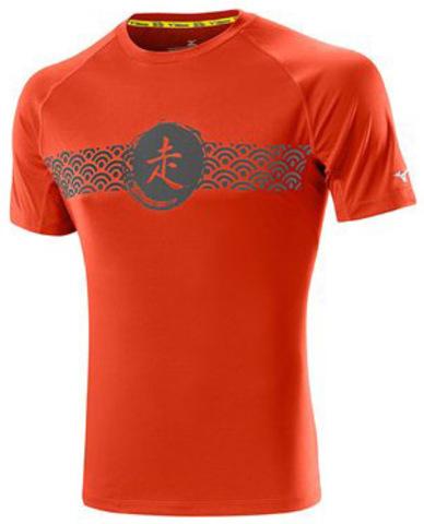 Футболка мужская Mizuno DryLite Wave Tee red