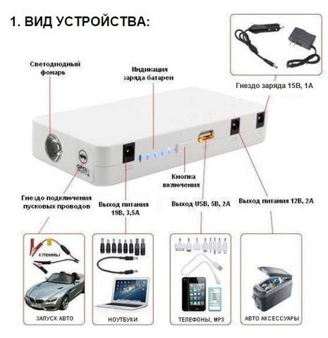 Пусковое устройство и источник питания mobilEn LP 114