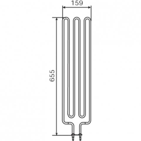 ТЭН Harvia - тэн харвия 3000W ZSE-259 (ZSE259) 230V - нагревательный элемент для печи сауны
