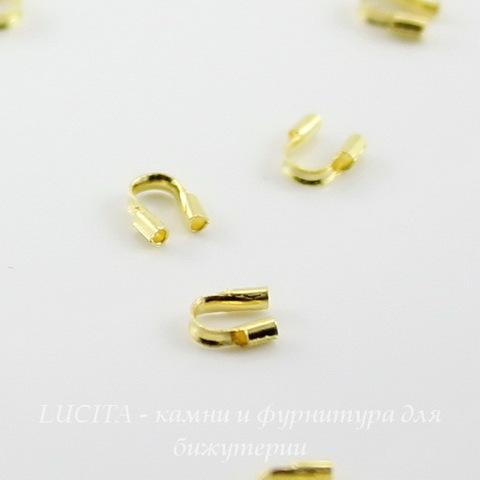 Защита ланки (тросика) от перетирания 5х4 мм (цвет - золото), 10 штук