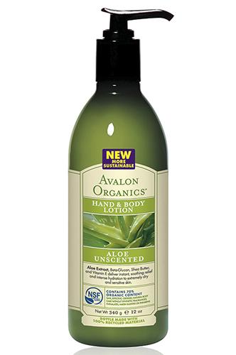 Лосьон для рук и тела с соком алоэ (без запаха), Avalon Organics