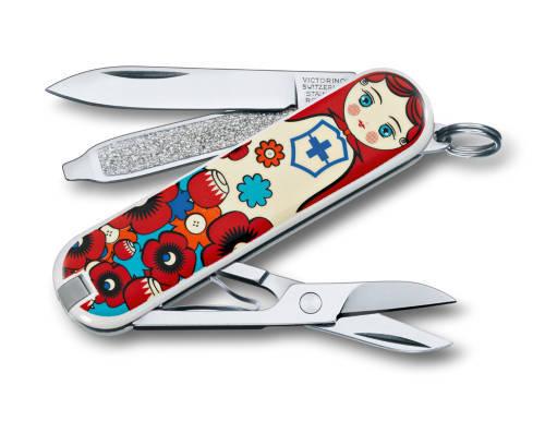 "Нож-брелок Victorinox Classic LE 2013, 58 мм, 7 функ, ""Matrioshka""  (0.6223.L1301)"