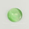 Кабошон круглый Кошачий глаз зеленый, 10 мм