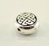 """Бусина плоская круглая TierraCast """"Кельтская"""" (цвет-античное серебро) 10х5 мм"""