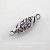 """Коннектор """"Ажурный овал"""" (1-1) 30х9 мм (цвет - античное серебро)"""