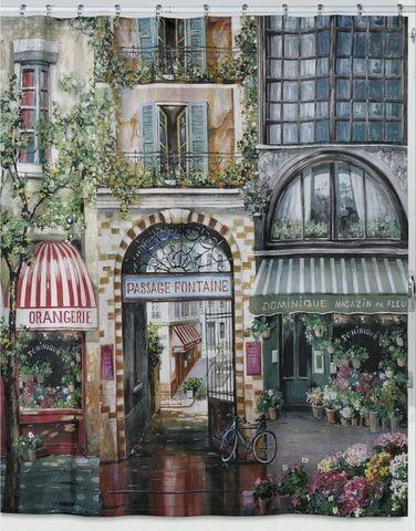 Элитная шторка для ванной Rue di Rivoli от Creative Bath