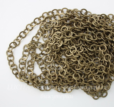 Цепь (цвет - античная бронза) 10 мм, примерно 5 м