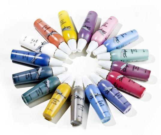 Краска для аэрографии Body/Nail Color, синяя светлая SN09