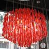 люстра verner panton spiral красная
