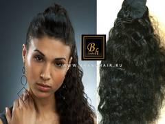 Хвост шиньон из натуральных волос