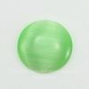 Кабошон круглый Кошачий глаз зеленый, 16 мм ()