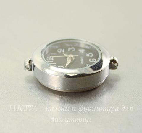 Основа для часов (цвет - античное серебро) 27х24 мм