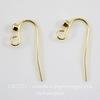 Швензы - крючки со стразом (цвет - золото) 19 мм